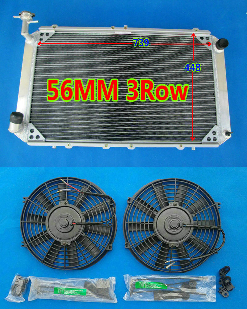 Sensible 3rows 56mm Aluminum Radiator fans For Nissan Patrol Gq Safari 2.8l 4.2l Diesel Td42 & 3.0lt Petrol Y60 87-97 New High Quality Fancy Colours Back To Search Resultsautomobiles & Motorcycles