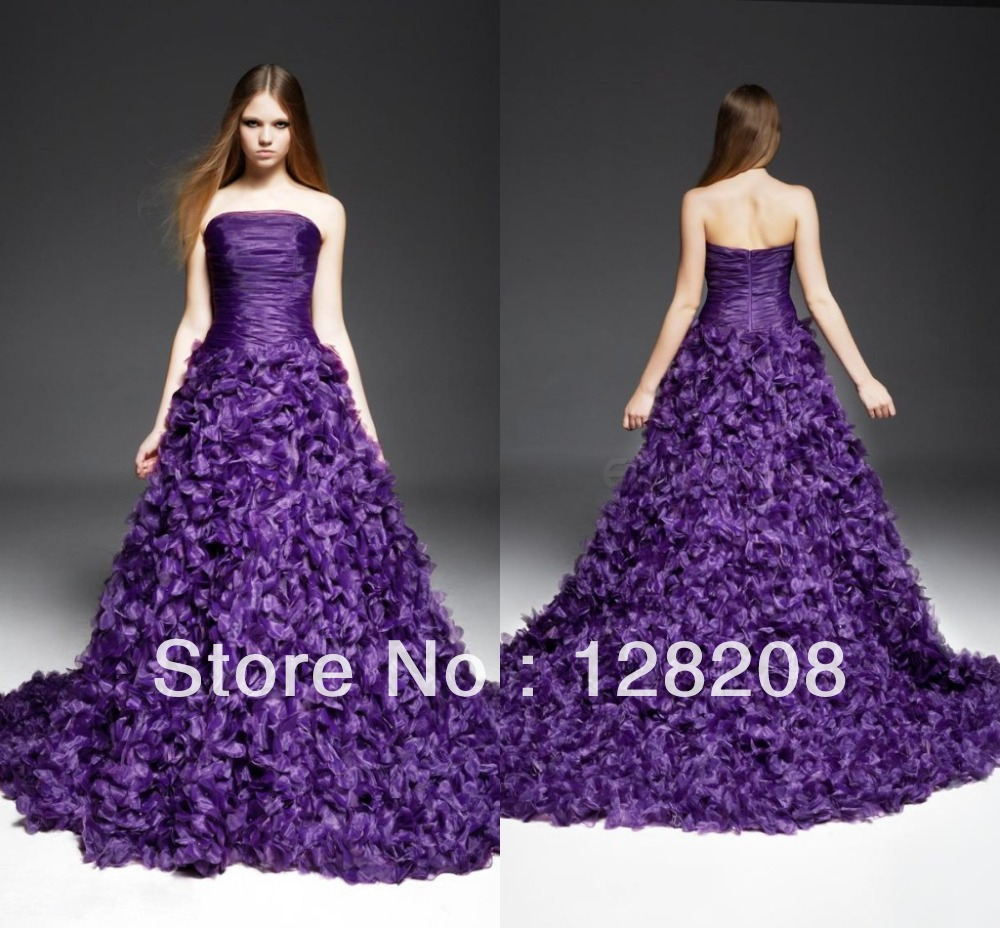 purple dress for wedding Aliexpress com Buy Gothic Purple Wedding Dress A line Vintage Bridal Dresses from Reliable dress bones suppliers on Kell Dress