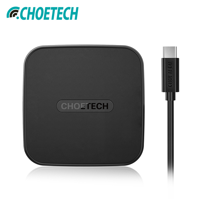 CHOETECH USB Type C QI Wireless Charger For iPhone 7 6s 8 8 Plus QI Wireless Charging Pad For Samsung Galaxy S8 Charger