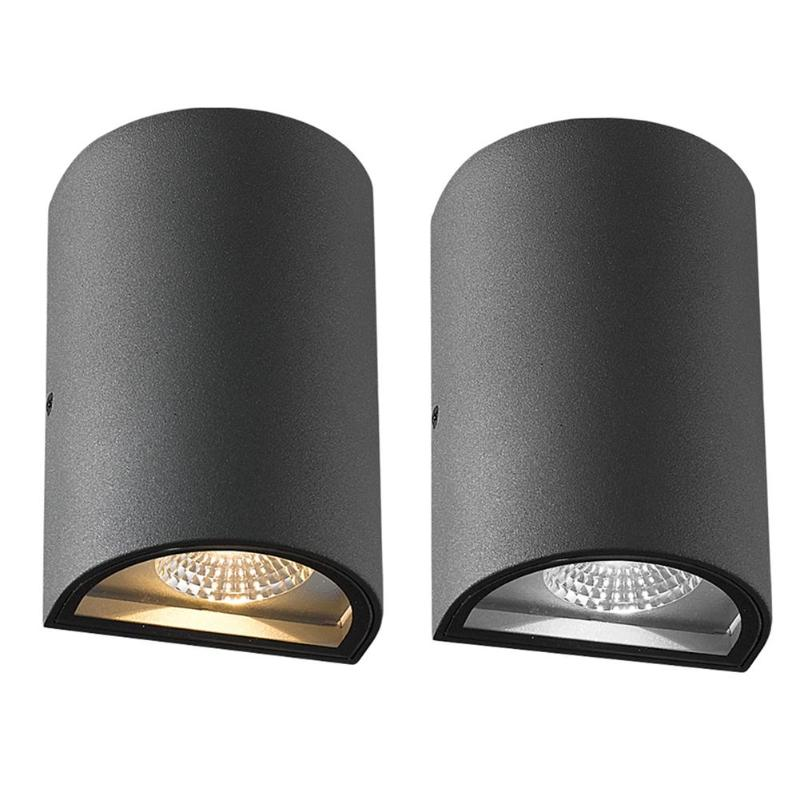 7W AC 86-265V IP65 Waterproof Outdoor Indoor LED Wall Light Sconce Lamp black led wall light waterproof ip65 stainless steel up down gu10 double wall lamp indoor outdoor wall lamp ac 85 265v