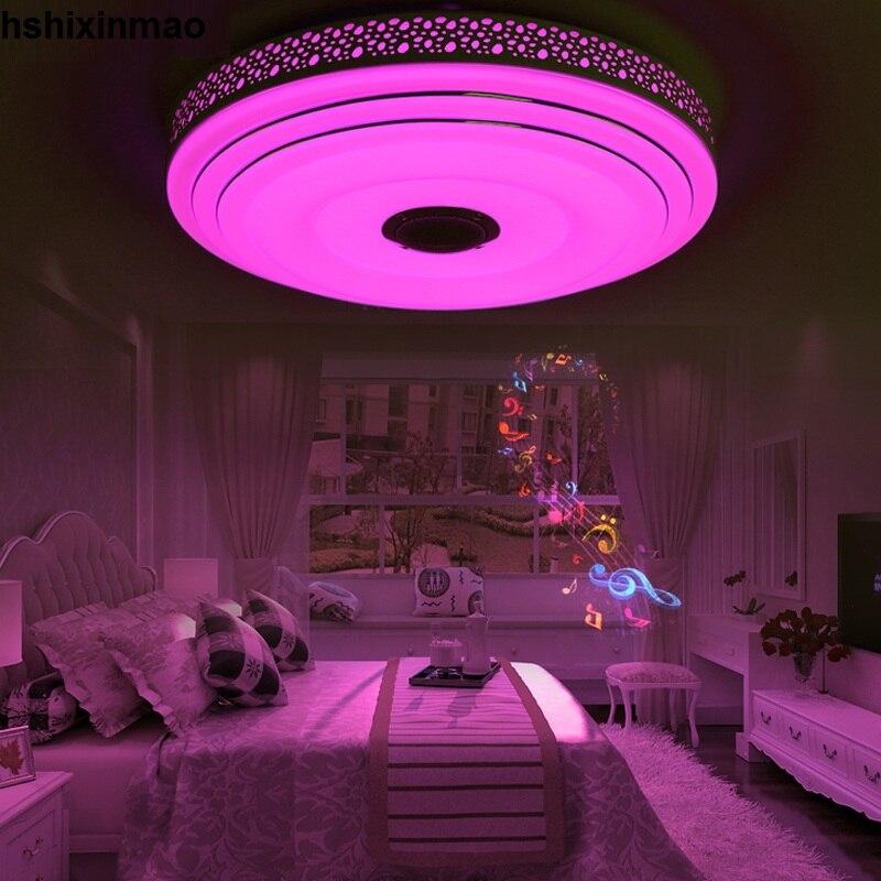 Nouveaux plafonniers de LED Dimmable 36 W de rvb avec l'appareil d'éclairage de lampes de plafond moderne à LEDs de Bluetooth et de musique - 5