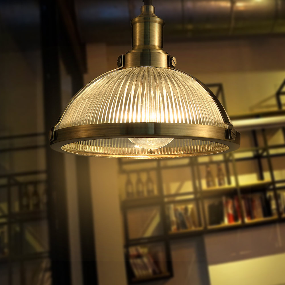 12 456 American industrial loft vintage pendant light glass iron for dining room color E27 Edison bulb home lamp edison inustrial loft vintage amber glass basin pendant lights lamp for cafe bar hall bedroom club dining room droplight decor