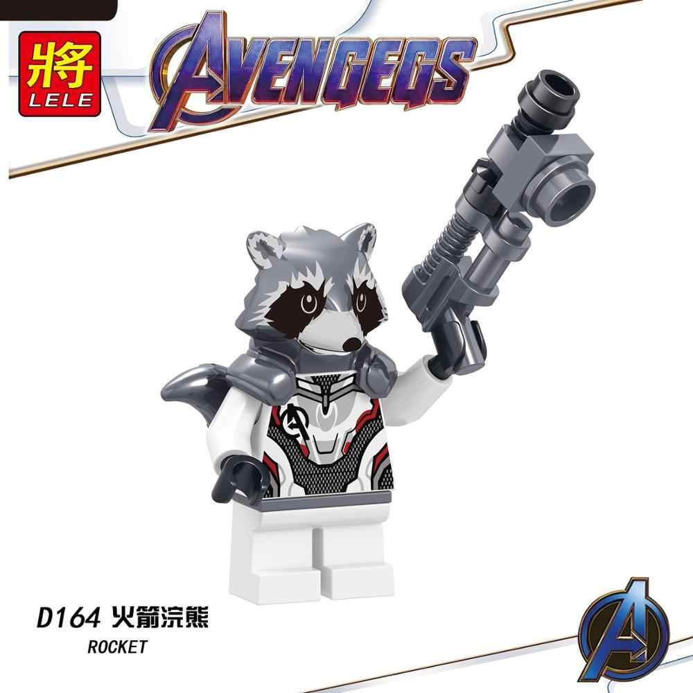 Super-heróis Da Marvel Thanos Endgame Vingadores Homem De Ferro Máquina de Guerra homem aranha Capitão América Thor Hulk Building Blocks toy