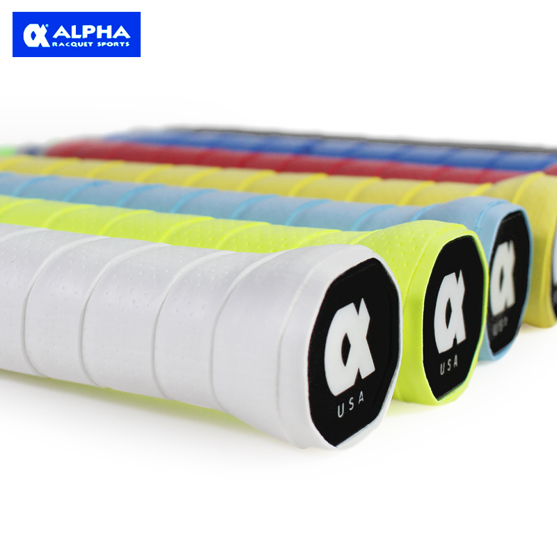 ALPHA Super PU Classical Super Sticky TG-200 Badminton/Squash/Tennis Overgrips Buffed Grain Overgrips 7pc/lot