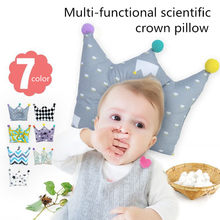 Newborn Positioner Anti Roll Cushion Flat Bebe Head Protection Cotton Baby Pillow Crown Infants Shaping Pillow Cartoon Toddler(China)