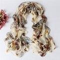 Бабочка Печати Летом Стиль Хиджаб Шарф Женщин Шелковый Шарф Платки И Шарфы Lencos Cachecol Feminino Де Pescoco Bufandas