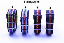 New arrived - 1PCS  High quality 20MM NATO straps waterproof nylon watch strap 4 color available Hot sale !