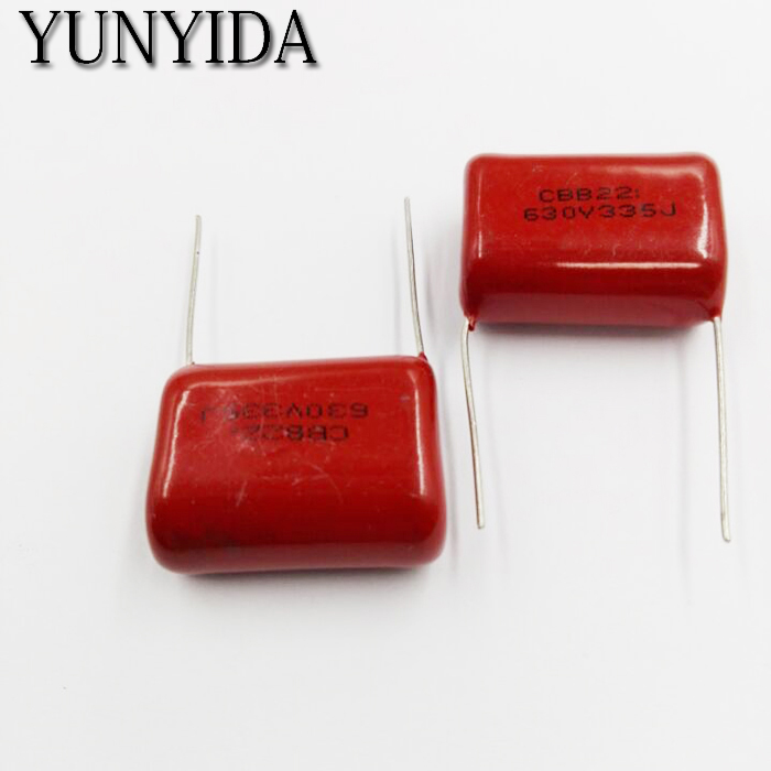 Free Shipping 5pcs, CBB 335J  630V  3.3uF  P25mm  Metallized Film Capacitor  335 630V  630V335J