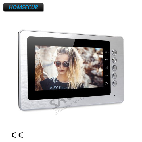 HOMSECUR 7 Color Indoor Monitor XM705 with Mude Mode for Video Door Phone Intercom System homsecur 4 3 color indoor monitor xm401 for video door phone intercom system