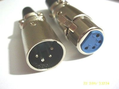 1 Set Nickel Plated 4 pin Mini XLR Audio Microphone connector диски helo he844 chrome plated r20