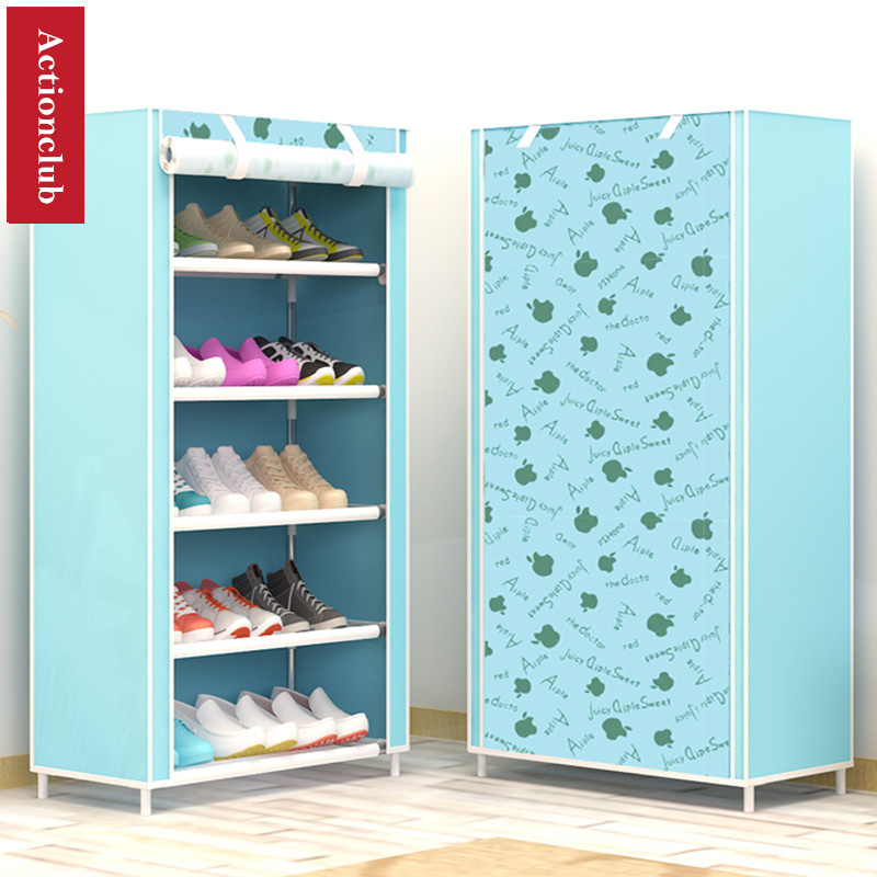 Actionclub Six Layers Non Woven Cloth Storage Shoe Cabinet Dustproof Shoe  Rack DIY Shelves Space Saver Shoe Organizer Shelf