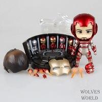 뜨거운! 새로운 1 개 10 센치메터 철 남자 마크 42 Q 버전 액션 피겨 장난감 #349