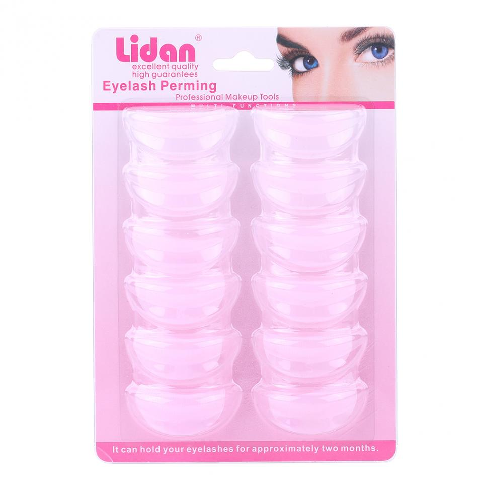 6Pairs Silicone Perming Curler Curling Eyelash Pad False Eyelash Lash Extension Root Lifting Shield Patch Shield Pad Makeup Tool