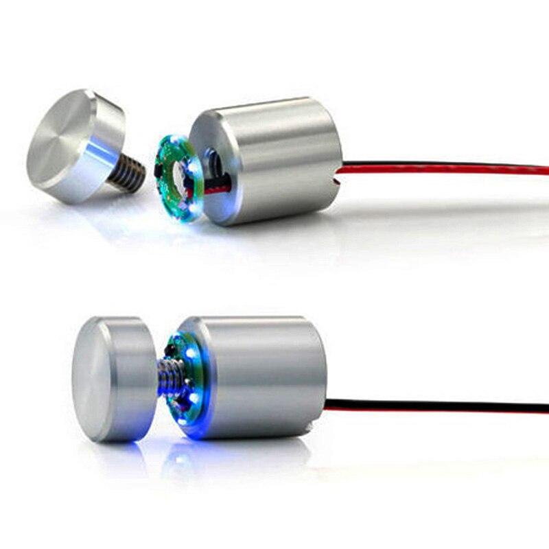 (Paquet/2 unités) Kits d'entretoises lumineuses Lumi Fix à lumière bleue LED, prend en charge les panneaux jusqu'à 3/8 pouces d'épaisseur, écran mural 3-D