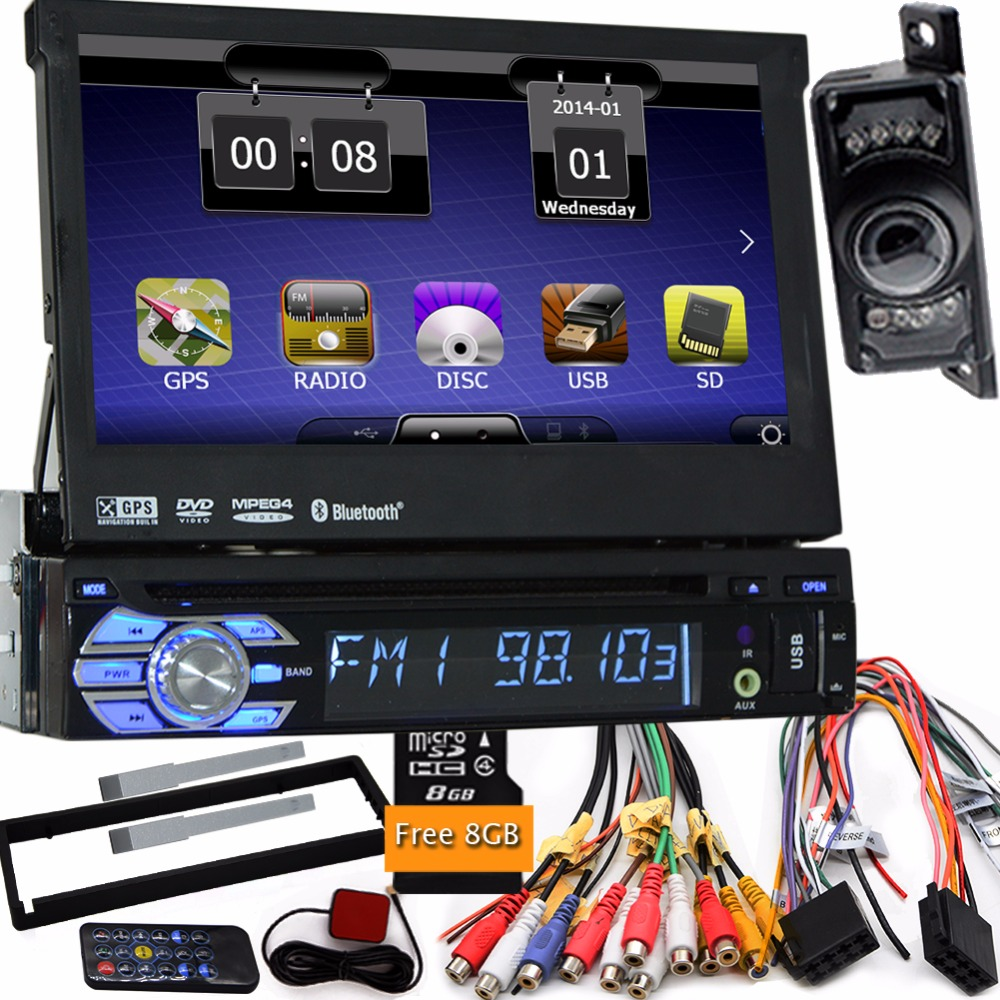 one 1 din radio car dvd player gps navigator tape recorder autoradio cassette player car radio