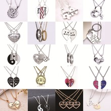 Hot Heart Broken  Friendship BFF Necklace Set Eight Diagrams Tai Chi Best Friends Forever Pendants& Necklace Gift