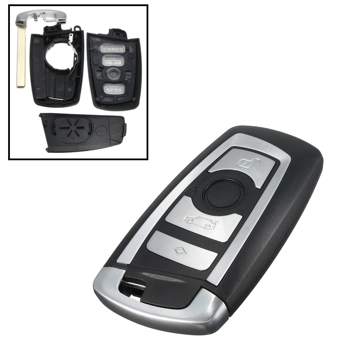 Bmw Key Fob: 4 Botton Uncut Blade Fob Remote Key Shell Case F10 F20 F30