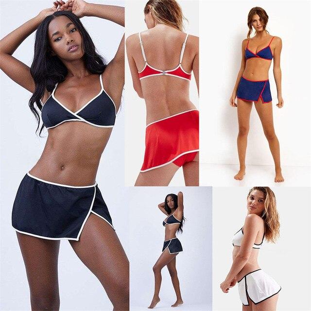 dae1dd4430745 YICN Sexy Short Skirt Bikinis 2019 mujer micro bikini swimwear women  bathing suit monokini biquinis feminino bikini net swimsuit