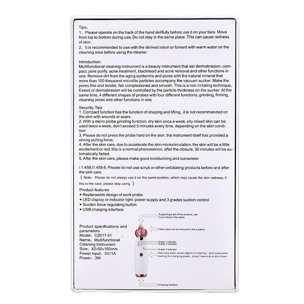 Blackhead Remover Perawatan Kulit Pori Vakum Jerawat Jerawat - Alat perawatan kulit - Foto 6