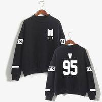 BTS Love Yourself Kpop Capless Sweatshirts Bangtan Boy Outwear Hip Hop Women And Men Turtleneck Fashion