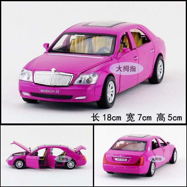 Подарок для ребенка 1 шт. 1:32 18 см тонкий автомобиля Maybach прохладный автомобиль акустооптического сплава вытяните назад модель дети мальчик игрушка