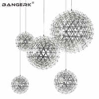 Post Modern LED Pendant Light Circular Creative Planet Hanging Lamp Pendant Lighting For Home Decor Stainless Lights Fixtures