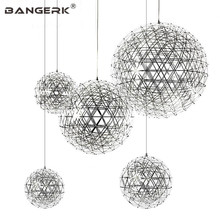 Post Modern LED Pendant Light Circular Creative Planet Hanging Lamp Pendant Lighting For Home Decor Stainless Lights Fixtures