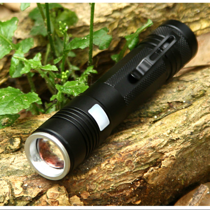 Купить с кэшбэком YAGE 337C XM-L Q5 3800LM Aluminum Waterproof Zoomable CREE LED Flashlight Torch Light for 18650 Rechargeable Battery USB 5-Modes