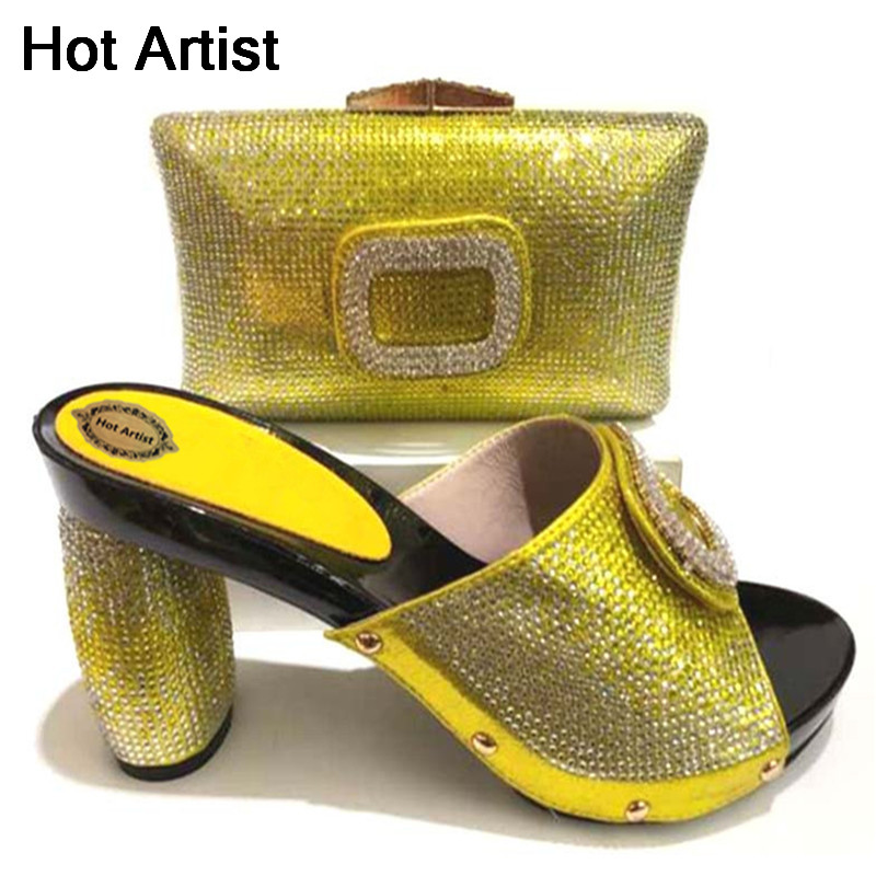 Hot Artist High Quality Italian Shoes And Bag Set African Design High Heels Shoes And Bag Set For Party Free Shipping TX-226 high quality african shoes and bag set women high heels royal blue italian shoes with hangbag for party hhy1 27