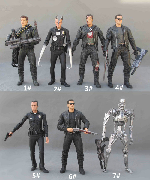 Movie 18CM The Terminator 2 T-800 Battle Across Time Arnold T-1000 Galleria Mall PVC Action Figure Collectibles Model Toy Gift image