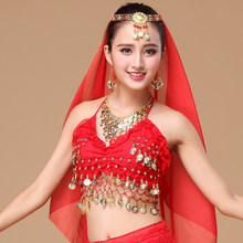 High quality brand new women cheap belly dance sexy Apron tops,bellydance costume top on sale 13 color(China)