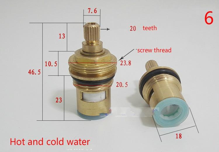 """Replacement Tap Cartridge Valve Ceramic Disc Gland Quarter Turn 20 Teeth 1//2/"""""""