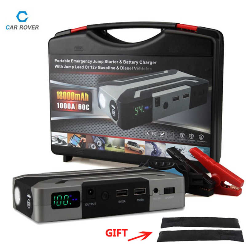 1000A Peak Current Car Jump Starter for Petrol 8.0L Diesel 6.0L High Power Car Battery Charger Emergency Auto Power Bank Booster