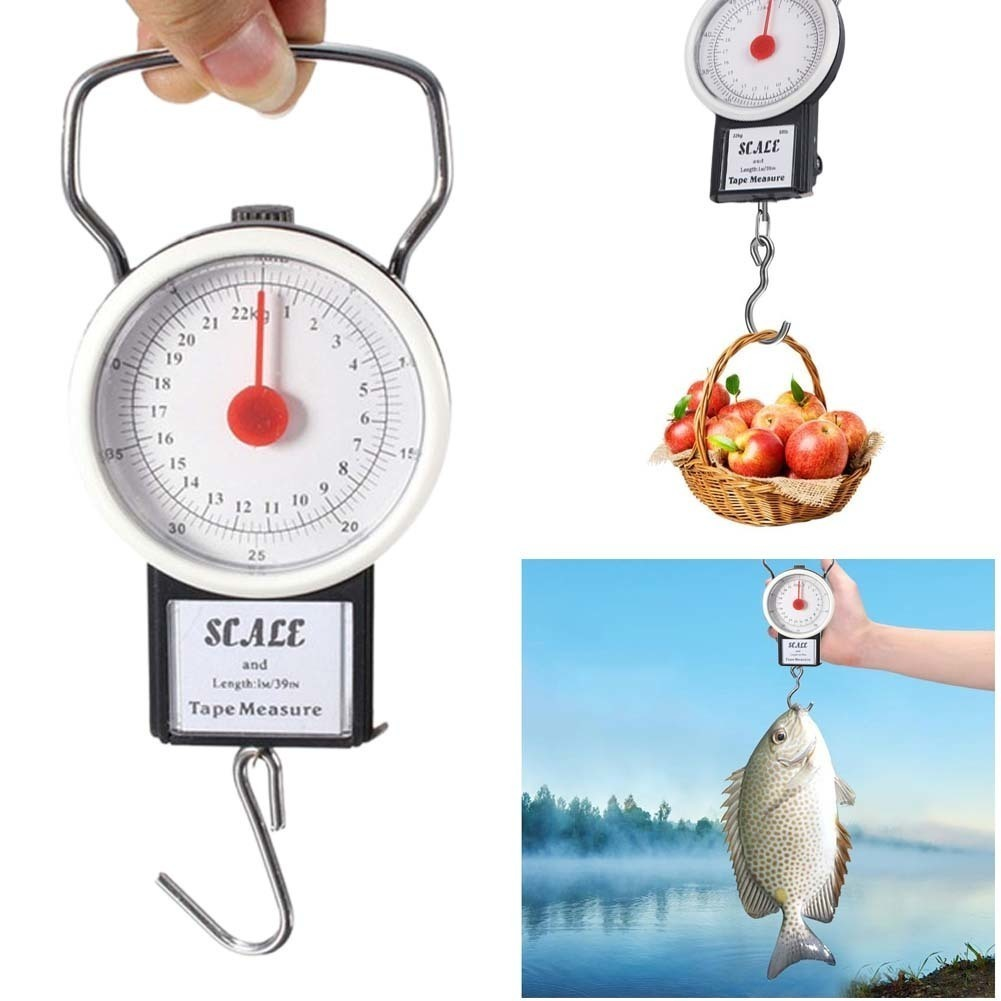 Fishing Spring Scale With Tape Measure Hanging Scale Fishing Tool Free Shipping