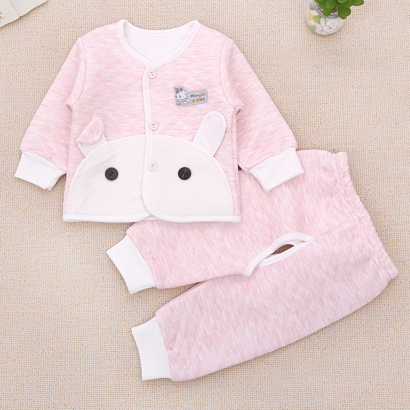 Infant Children baby underwear  natural colored cotton newborn baby Boy Girl clothing set cotton long-sleeved suit hhtu 2017 new infant baby girl boys sleep clothing set children cute cartoon pajamas suit newborn kids soft cotton underwear