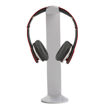 Top Deals Universal Acrylic Stand for Earphone Headphone Headset Holder Holder for Desk Display Stand white