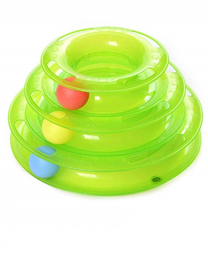 OLN Cat Toy Ball Pet Toys Intelligence Triple Play Disc Three Tower Of Tracks Turntable Products