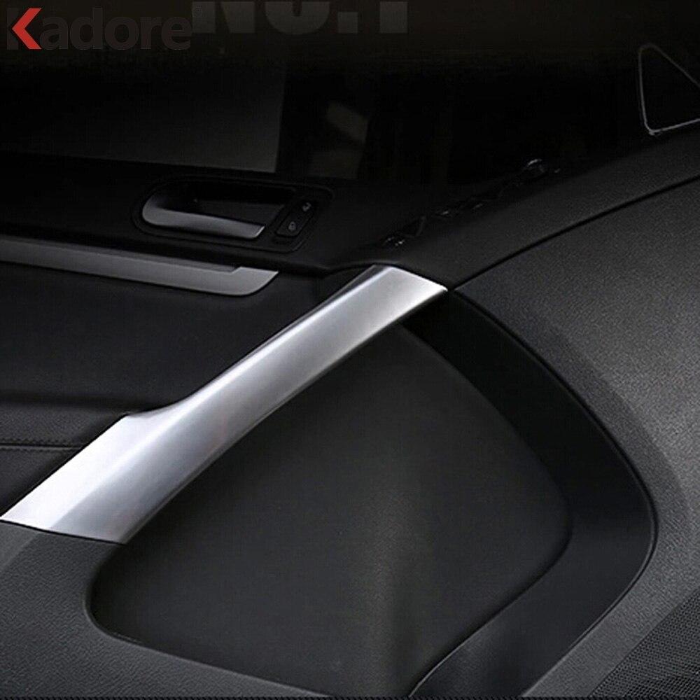 Para Volkswagen VW Tiguan 2009-2011 2012 2013 2014 2015 ABS Fosco Interior Soleiras de Porta Lateral Braço Decorativo Da Guarnição acessórios