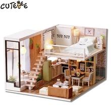 Cutebee Миниатюрный Кукольный Дом DIY кукольный домик с мебелью деревянный дом время ожидания Игрушечные лошадки для детей подарок на день рождения l020