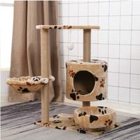 Продукт для кошек домик на дереве кровать Мебель Кошка царапинам доска царапина Колонка Когтеточка для котов кошка восхождение рамка Быстр