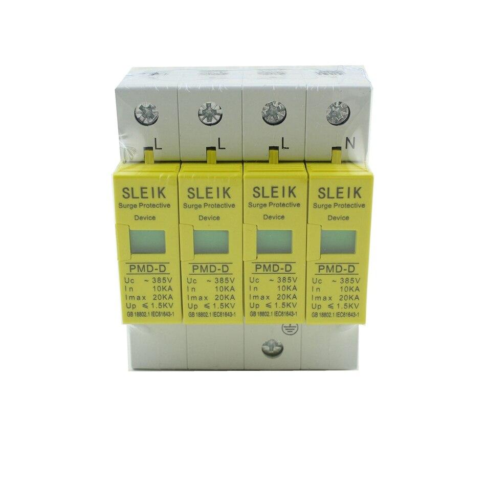 Alta qualidade SPD 4 P 10KA ~ 20KA ~ 385VAC Arrester Dispositivo Protetor Contra Surtos Casa de Proteção de baixa-tensão
