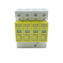 high quality SPD 4P 10KA~20KA ~385VAC House Surge Protector Protective Low-voltage Arrester Device стоимость