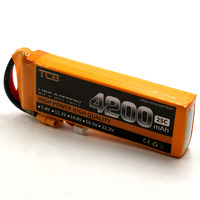 TCB High Capacity RC LiPo Battery 11.1V 4200mAh 25C Batteries 3S For RC Airplane Drone Rechargeable Battery LiPo 3S Max 50C