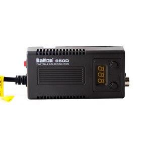 Image 3 - Электрический паяльник BAKON 950D 75 Вт с регулируемой температурой, паяльник T13 с наконечником, Мини Портативная сварочная ремонтная станция, инструменты