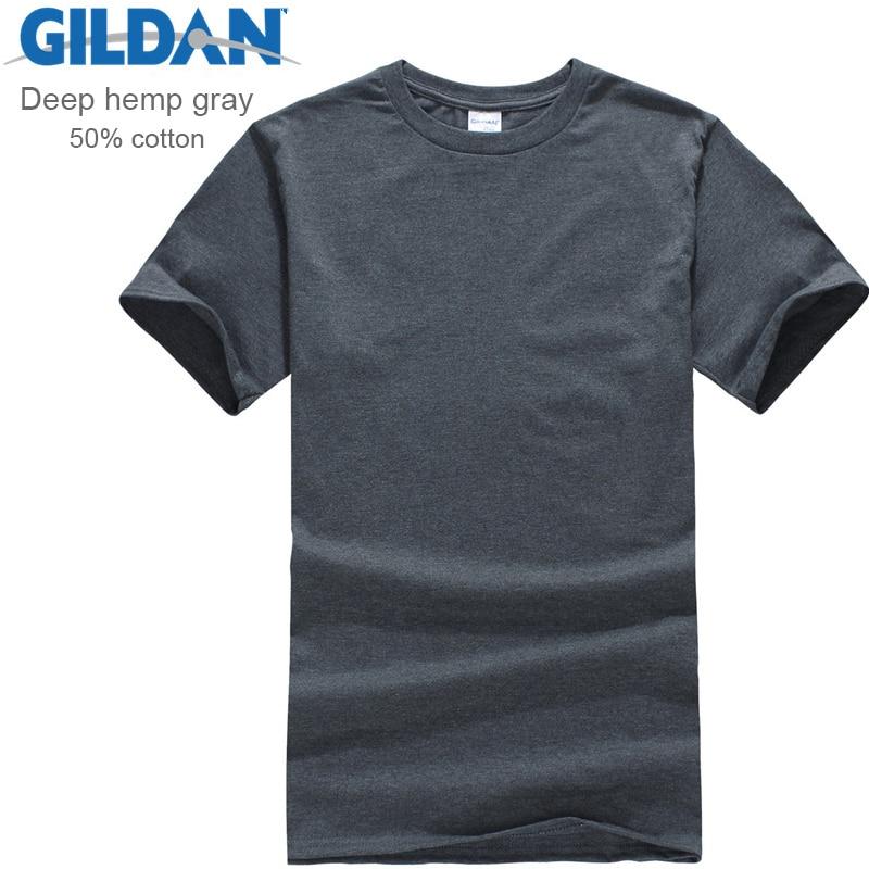 Gildan Brand Men Clothing Men Short Sleeve T Shirt Summer Casual Blank Tee Shirt Comfortable Soft Male Tops Tees Free Shipping