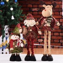 Retractable Christmas Ornaments Doll Table Tree Cloth Toy Hang Decorations