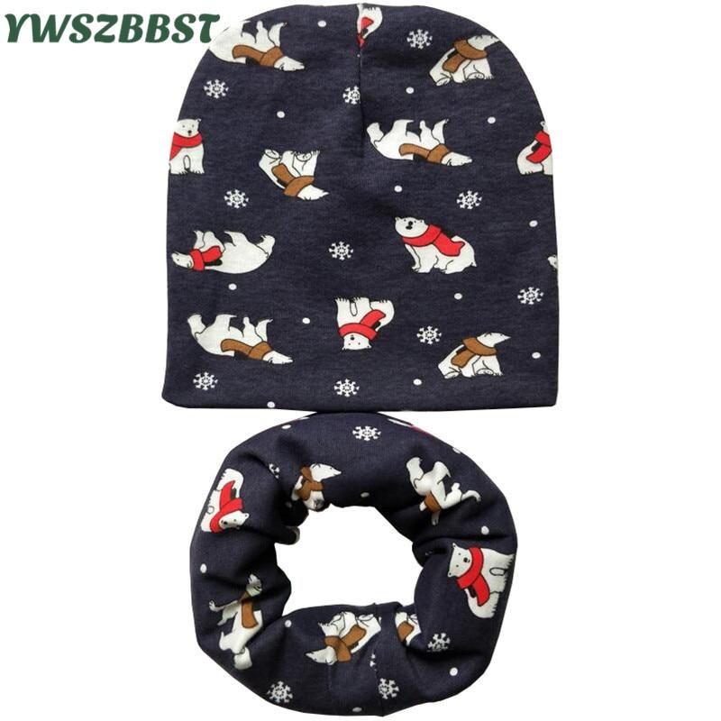 Baby Hat Bear Panda Lion Animal Print Cotton Children Hat Scarf Collar Autumn Winter Kids Boys Girls   Beanies   Cap Toddler Hats