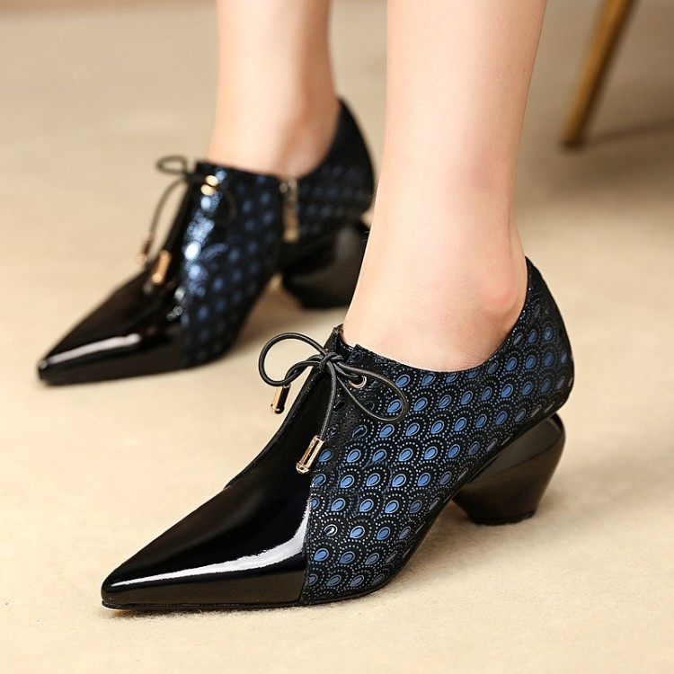 Womens Shoes Women Genuine Real Leather Pump Shoes Big Size Women Dress Office Shoes