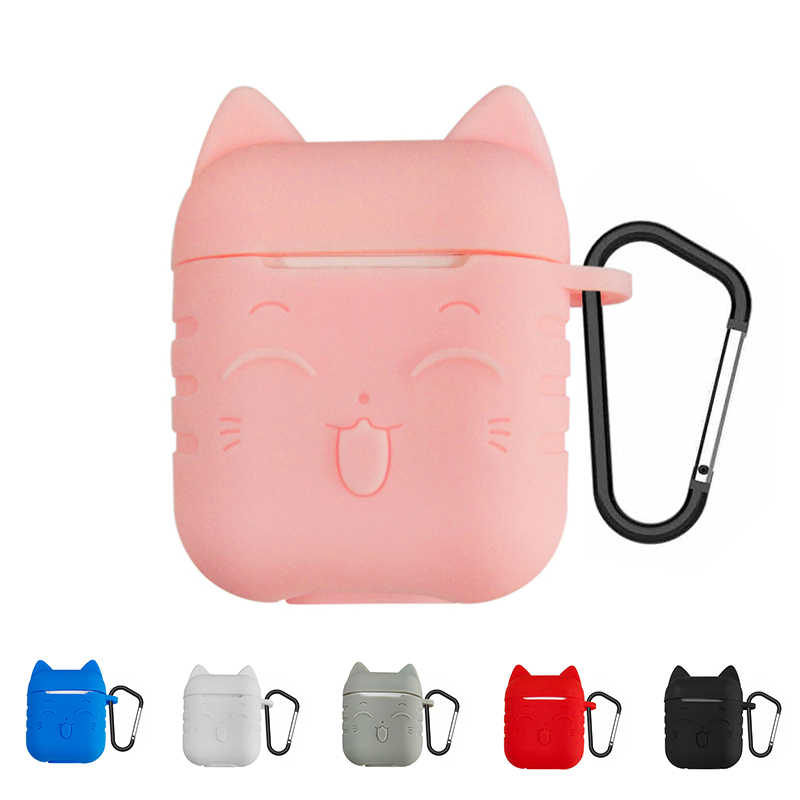 TPU Silicone Bluetooth Wireless Earphone cute Case For AirPods Protective Cover Skin Accessories for Air pods Charging Box Cases