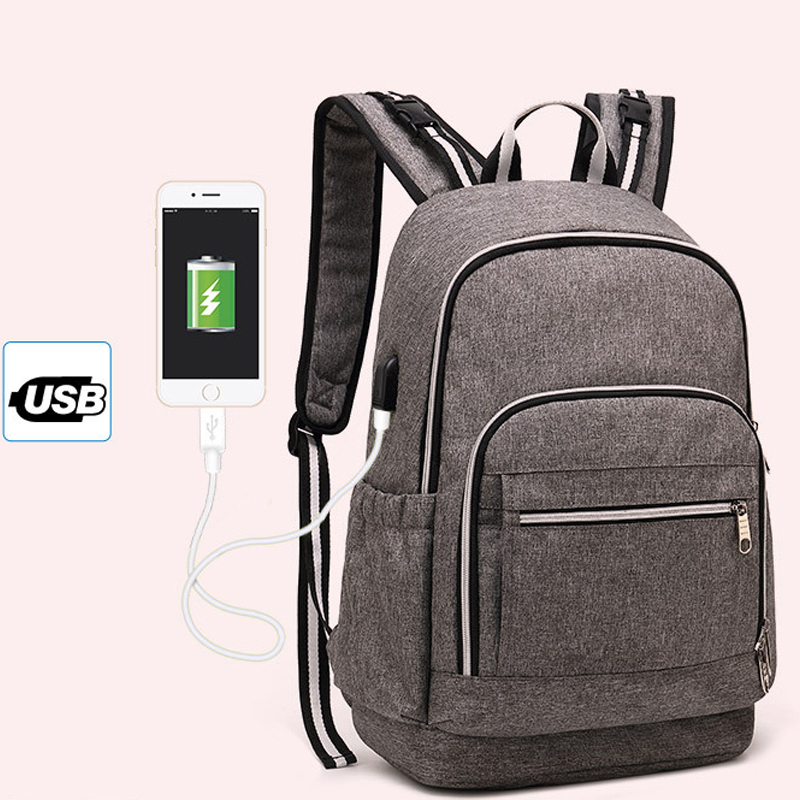 Fashion Mummy Backpack Bag USB Charging Multi-function Diaper Bag Backpack Nappy Baby Bag with Stroller Straps for Baby CareFashion Mummy Backpack Bag USB Charging Multi-function Diaper Bag Backpack Nappy Baby Bag with Stroller Straps for Baby Care
